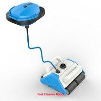 Новейший робот пылесос для бассейна с новейшим плавающим перезаряжаемым аккумулятором, Настенная Чистка, пульт дистанционного управления