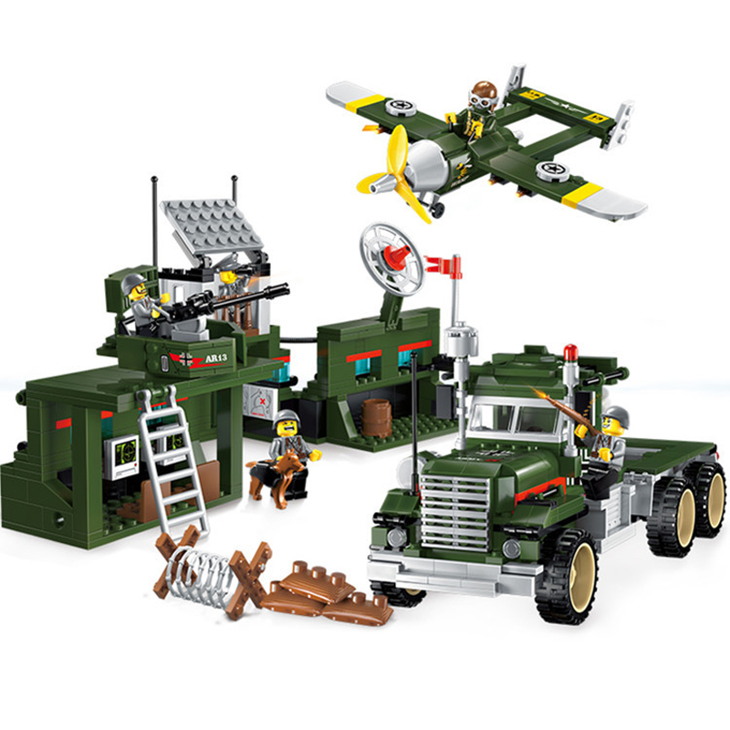 687pcs Children's educational building blocks toy Compatible Legoingly city Military series mobile combat vehicle figures Bricks-in Model Building Kits from Toys & Hobbies    1