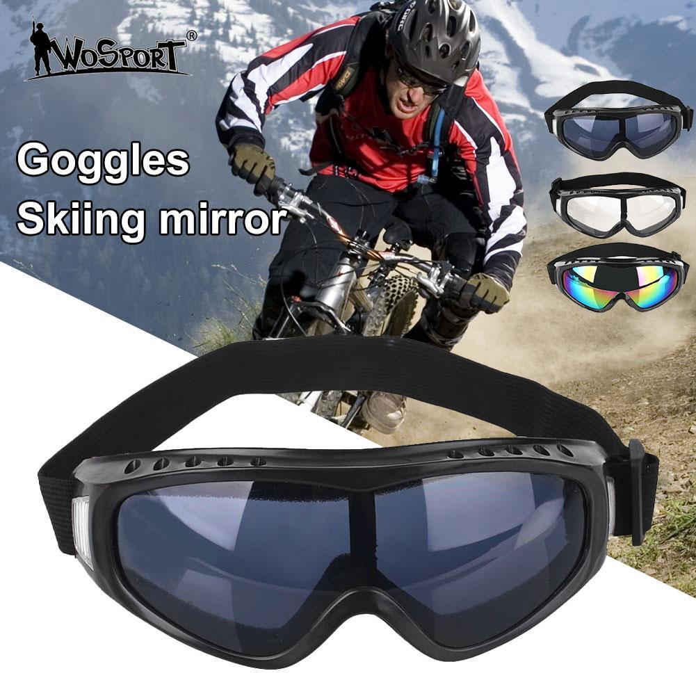 1 Pcs Ski Goggles Eyewear PC Lens Anti-UV Windproof Anti-fog Sand Protective Winter Ski Goggles Men Snowboard Goggles