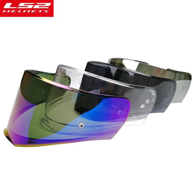 c55d698a original LS2 FF390 Breaker Chrome-plated helmet lens transparent silver LS2  FF390 full face motorcycle helmet visor LS2 helmet