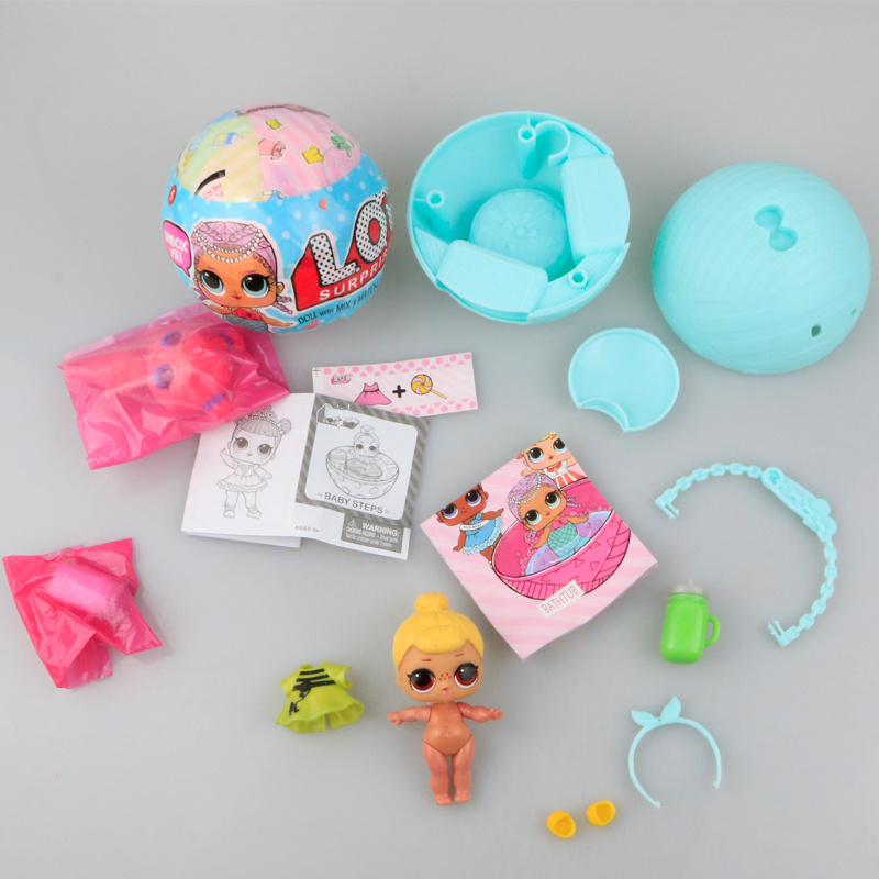 Hot Cartoon Kawaii LOL Surprise Funny Ball Doll Action Figures Toy Kids Unpacking Egg Baby Color Change LoL Dolls Gifts kawaii baby dolls