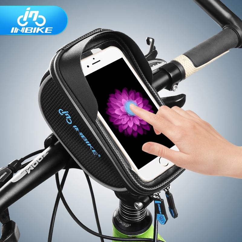 INBIKE Bike Bag Water Resistant PU Bicycle Front Handlebar Bag Touch Screen Bag IB296 от Aliexpress INT