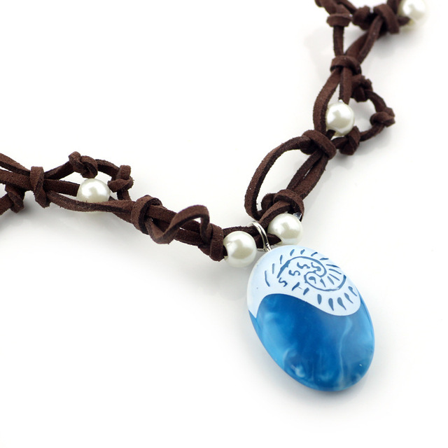 Moana Ocean romance Rope chain necklaces blue Stone necklaces & pendants necklace for women jewelry 4