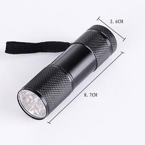 Image 5 - Lampe lampe de poche UV Mini maison, 395nm à lumière noire, lumière violette, 9 e, lampe en aluminium Torcia Linterna, z30