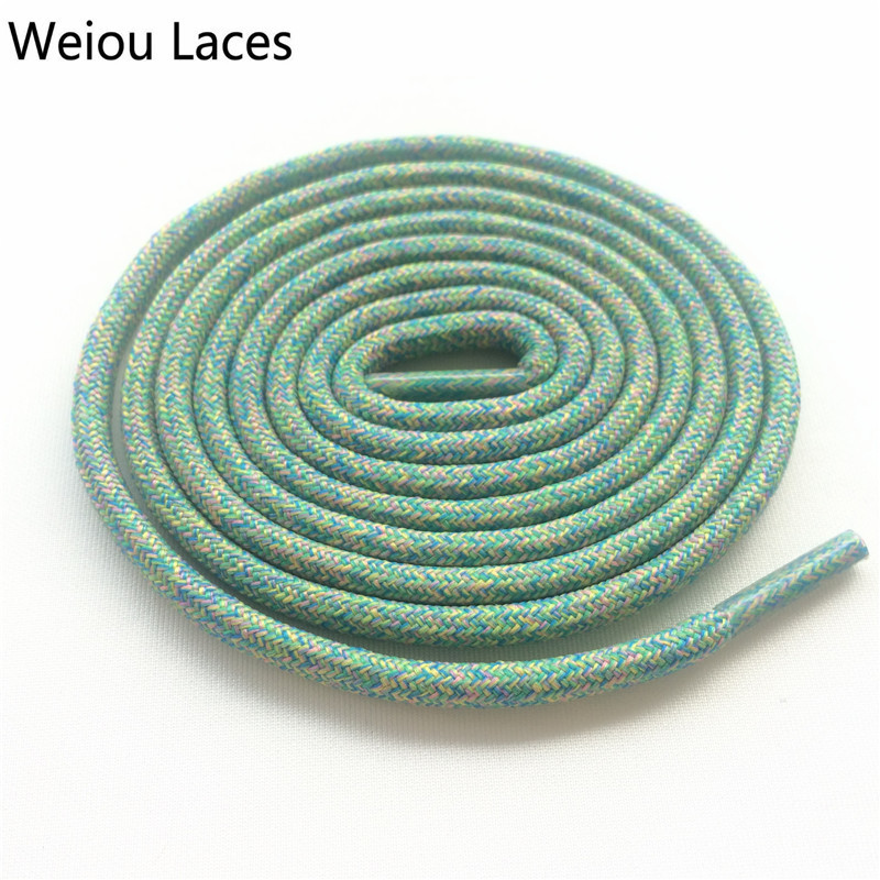 Offical Weiou Flyknit Multi Color Rope Laces Running Shoestring 0.45cm Sport Multicolor Shoelace For Basketball Jogging Shoes 45 neon orange 5 16 flat shoelace for all basketball shoes