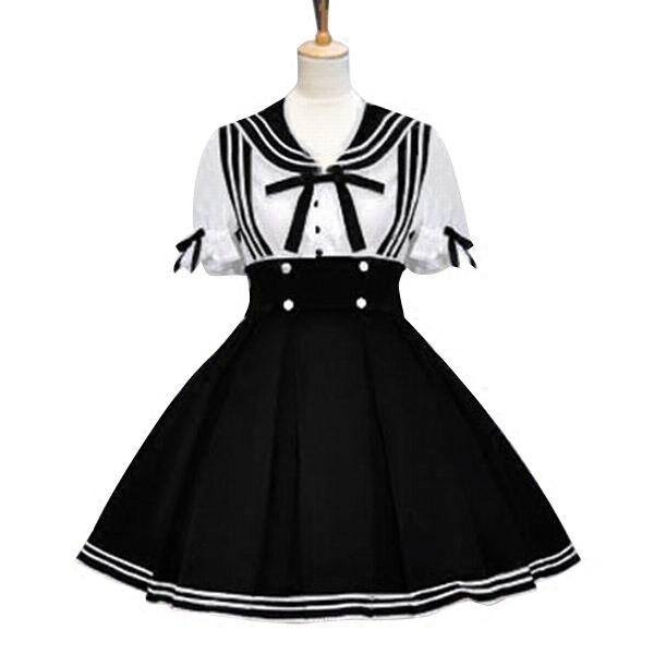 Robe Lolita marin robe Vintage femme vêtements Lolita Costumes - 3