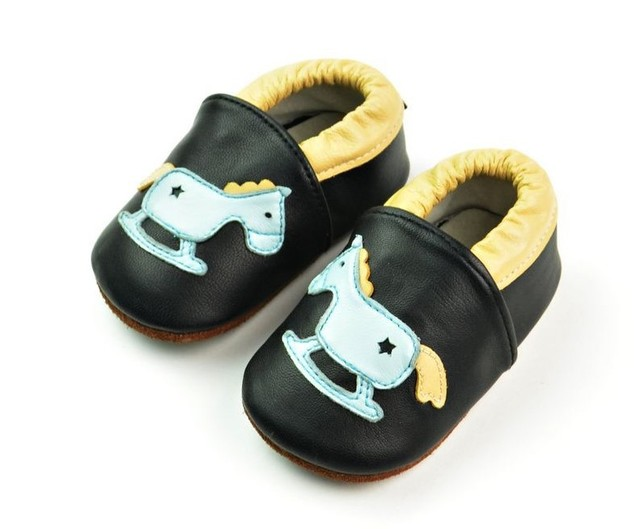 New designs Genuine Leather Horse Print Baby Boy Moccasins Shoes hard sole Bebe Shoe Anti-Slip Newborn First Walker Kids Shoes