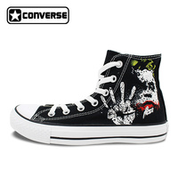 Sneakers Men Women Converse All Star Joker Design Custom Hand Painted Shoes Boys Girls Black Canvas Shoes Man Woman Unique Gifts