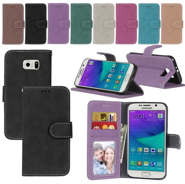 Matte Leather Case For Samsung Galaxy S7 G930F G930FD SM-G930F Retro Phone case Flip Cover For Samsung Galaxy S7 Case capa