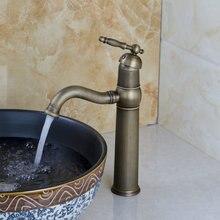 Горячей/холодной водопроводной воды кухня/ванна умывальник кран для покрытием torneira Cozinha бамбук античная латунь поворотный 8656/10 раковина смеситель