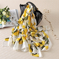 Lemon seda bufanda de lujo de las mujeres bufandas manta bandana foulard gran mantón largo de la marca de moda femenina nuevo [1619]