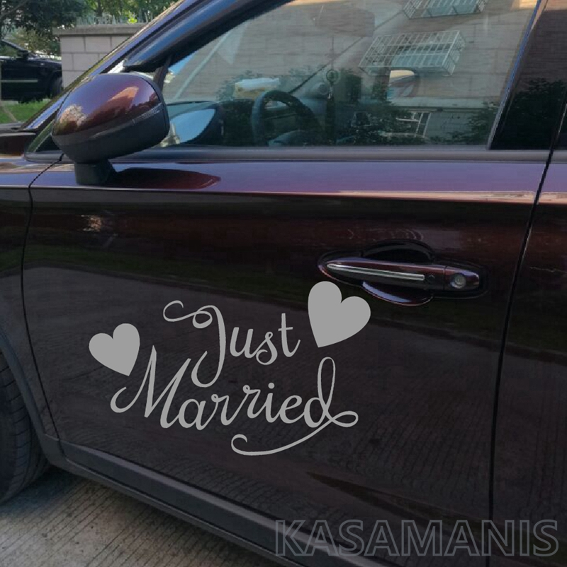 wedding car sticker