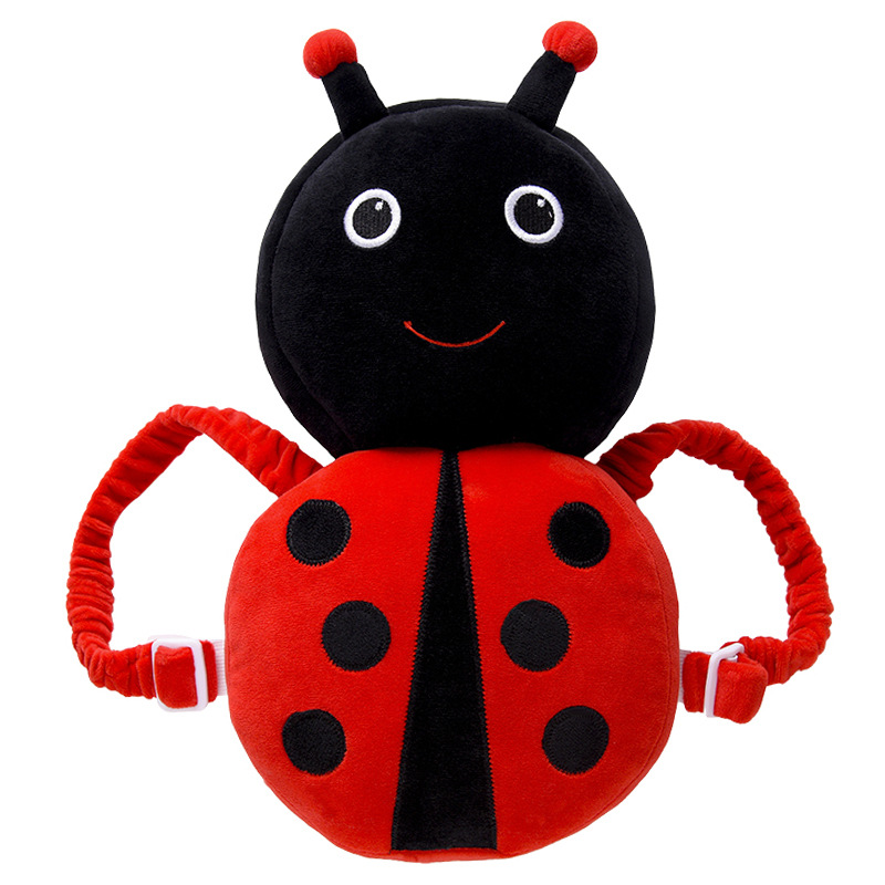 Baby Toddler Head Pillow Child Protection Baby Head Protection Pad Cute Bee Ladybug Anti-Fall Headrest Red