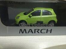 Verde 1:18 nissan micra marzo lega hatchback modello brinquedos modellino mini car toys