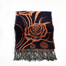 Winter Scarf Women Knit Oversize Tartan Floral Stoles Tassel Bandana Acrylic Blanket Scarf Ladies Shawls and
