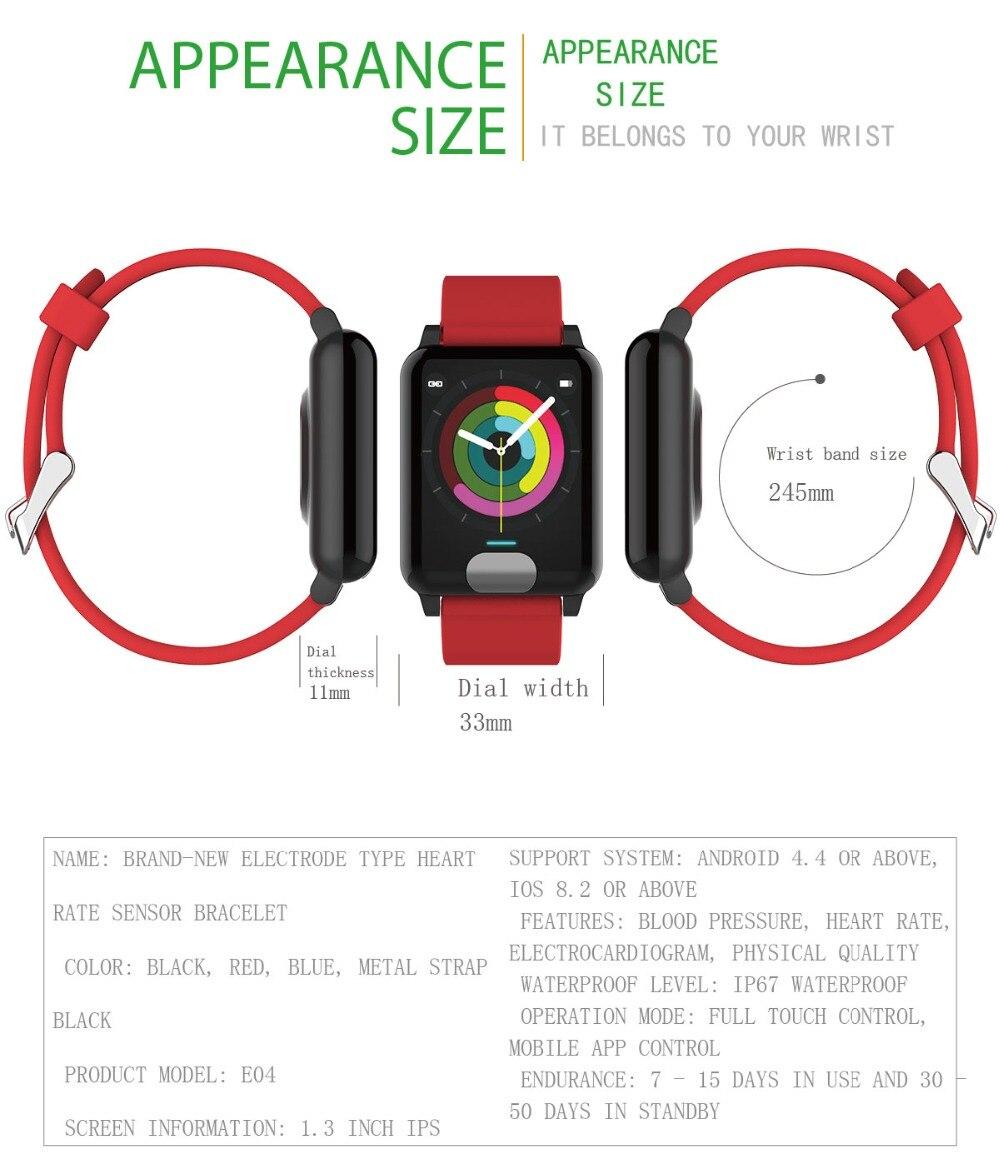 Pressão Arterial Relógio Inteligente Pulseira para IOS Android telefone