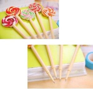 Image 5 - 24 Cái/lốc Kawaii Lollipop Thiết Kế Đen 0.5Mm Mực Bút Bi Sinh Viên Chữ Ký Bút Văn Phòng Học Văn Phòng Phẩm Vật Dụng