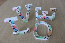 Spring scenery 1set Home Decoration Wood Wooden Letter Alphabet Word  love family Free Standing Wedding Part Birthday