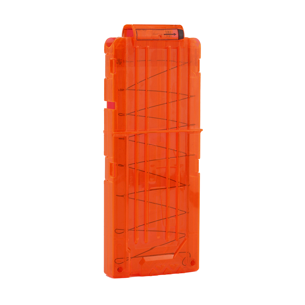 12 Reload Clip Magazines Round Darts Replacement Plastic Magazines Toy Gun Soft Bullet Clip Orange,black For Nerf  Gun Toys