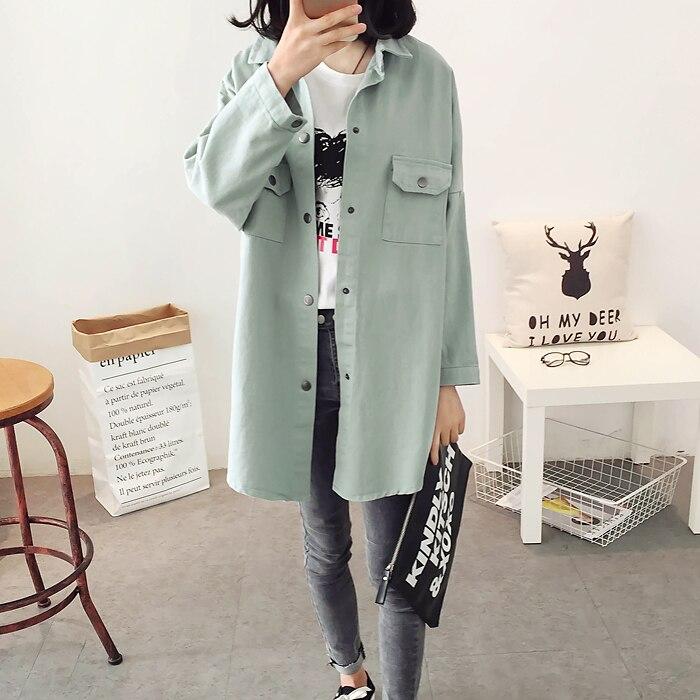 CHICEVER Long Sleeve Loose Plus Size Women Jacket Female Coat With Pockets 2017 Autumn Fall Fashion Clothing  3