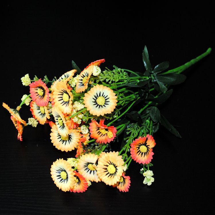 5pcs/set artificial flowers silk flowers fork 28 flower