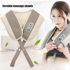 Image 2 - U şekli boyun masaj ağrı boyun ve omuz çok fonksiyonlu dokunarak masaj taşınabilir elektrikli topları servikal masaj şal