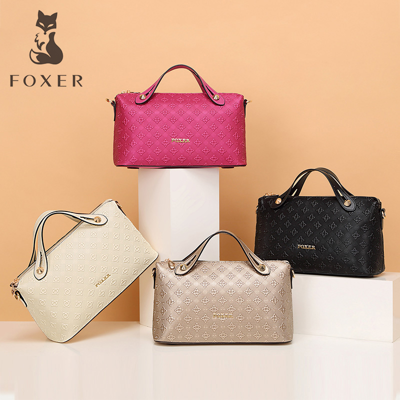 FOXER Leather Women Bag Luxury Handbags Women Bags Fashion Lady Messenger Bags Shoulder Bag For Female Purse fashion leather handbags luxury head layer cowhide leather handbags women shoulder messenger bags bucket bag lady new style