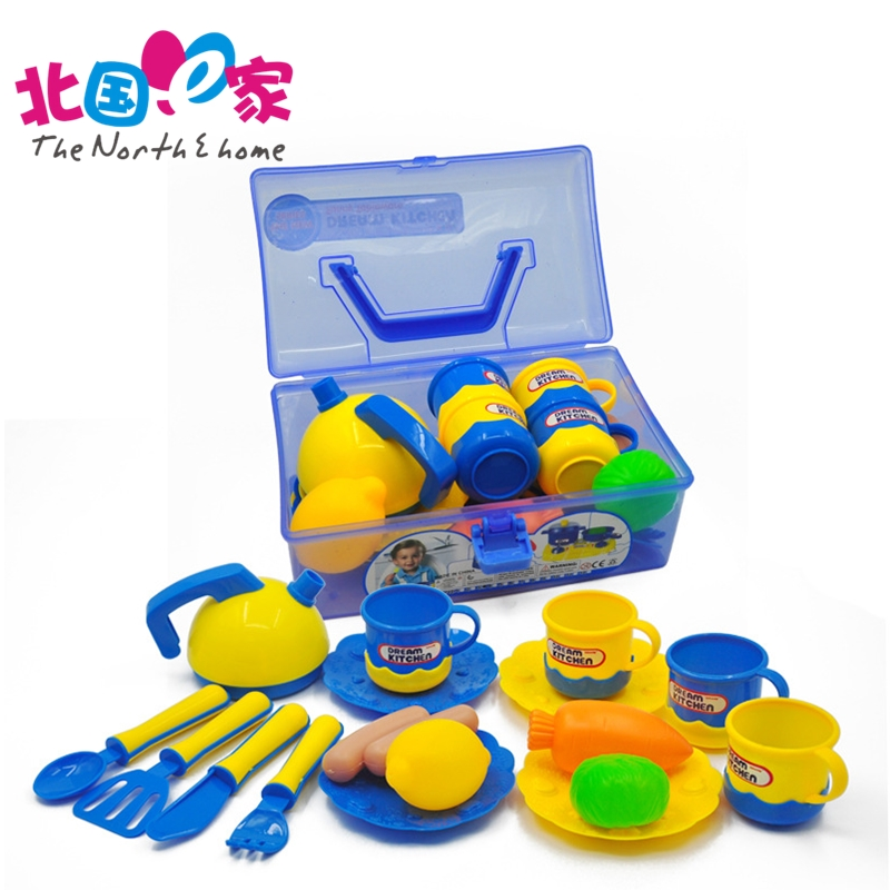 Children Pretend Play Toys Baby Portable Box Cutlery Cook Cosplay Education Toy Set Simulation Kitchen Toys Safety For Children
