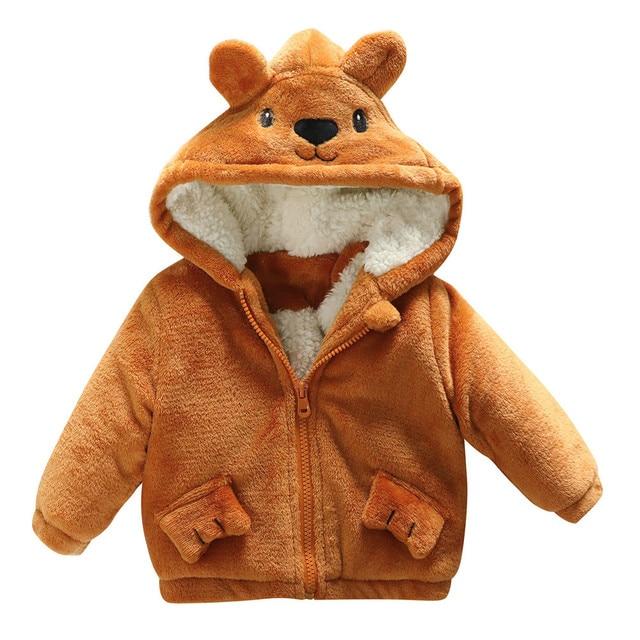 Character Pattern Toddler Coats Girls Boys Baby Infant Boy Autumn ears Cartoon Hooded Coat Cloak Jacket Thick Warm  #YL5