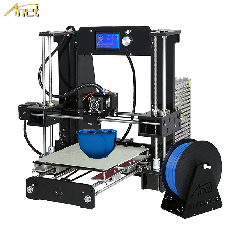 Hot Anet A6/Auto A6 impresora 3d Printer Auto Level A8/Normal A8 High-precision Reprap i3 3D printer Kit DIY With Free Filament 2016 upgrade free shipping 3d printer high precision reprap prusa i3 220 220 240mm 3d printer diy kit 0 5kg filament 8g sd card