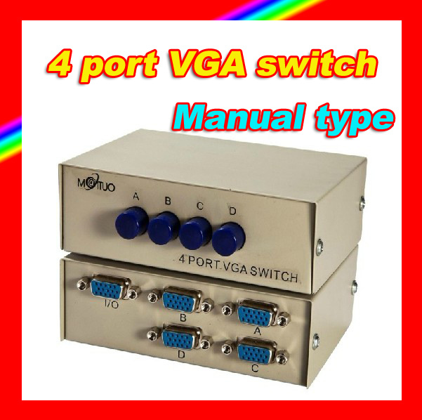 MAITUO MT-15-4C 4 ports VGA share switch 4 monitors share 1 PC host/4 PC hosts share 1 monitor not synchronous