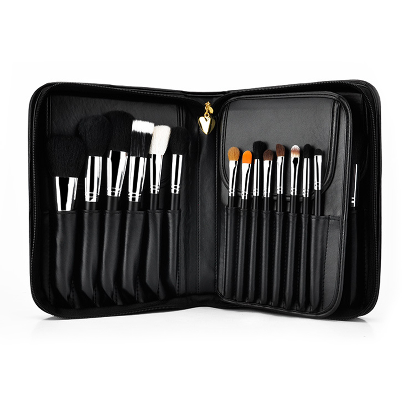 MSQ Professional 29pcs Makeup Brushes Set Animal Hair Foundation Powder Eyeshadow Make Up Brush Kit With PU Leather Case msq 12pcs makeup brushes set powder foundation eyeshadow make up brush professional cosmetics beauty tool with pu leather case