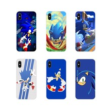 Sonic the Hedgehog Accessories Phone Shell Covers For Samsung Galaxy S4 S5 MINI S6 S7 edge S8 S9 S10 Plus Note 3 4 5 8 9(China)
