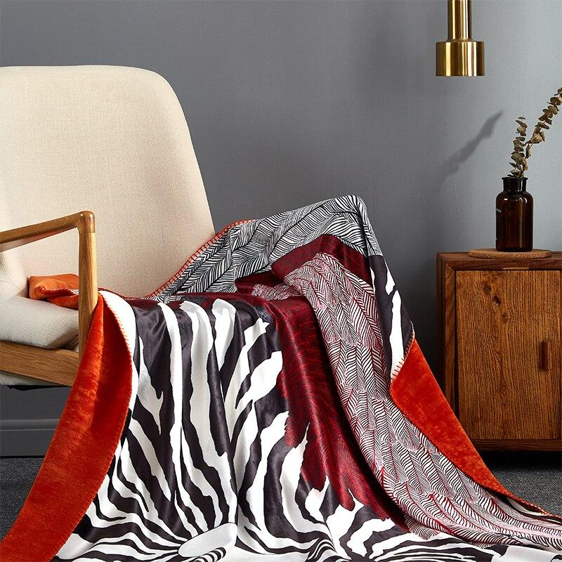 Moderna de lujo de doble capa de manta suave sofá cubierta hogar decorativo de punto a cuadros de viaje peso gravedad mantas manta gruesa-in Mantas from Hogar y Mascotas    3