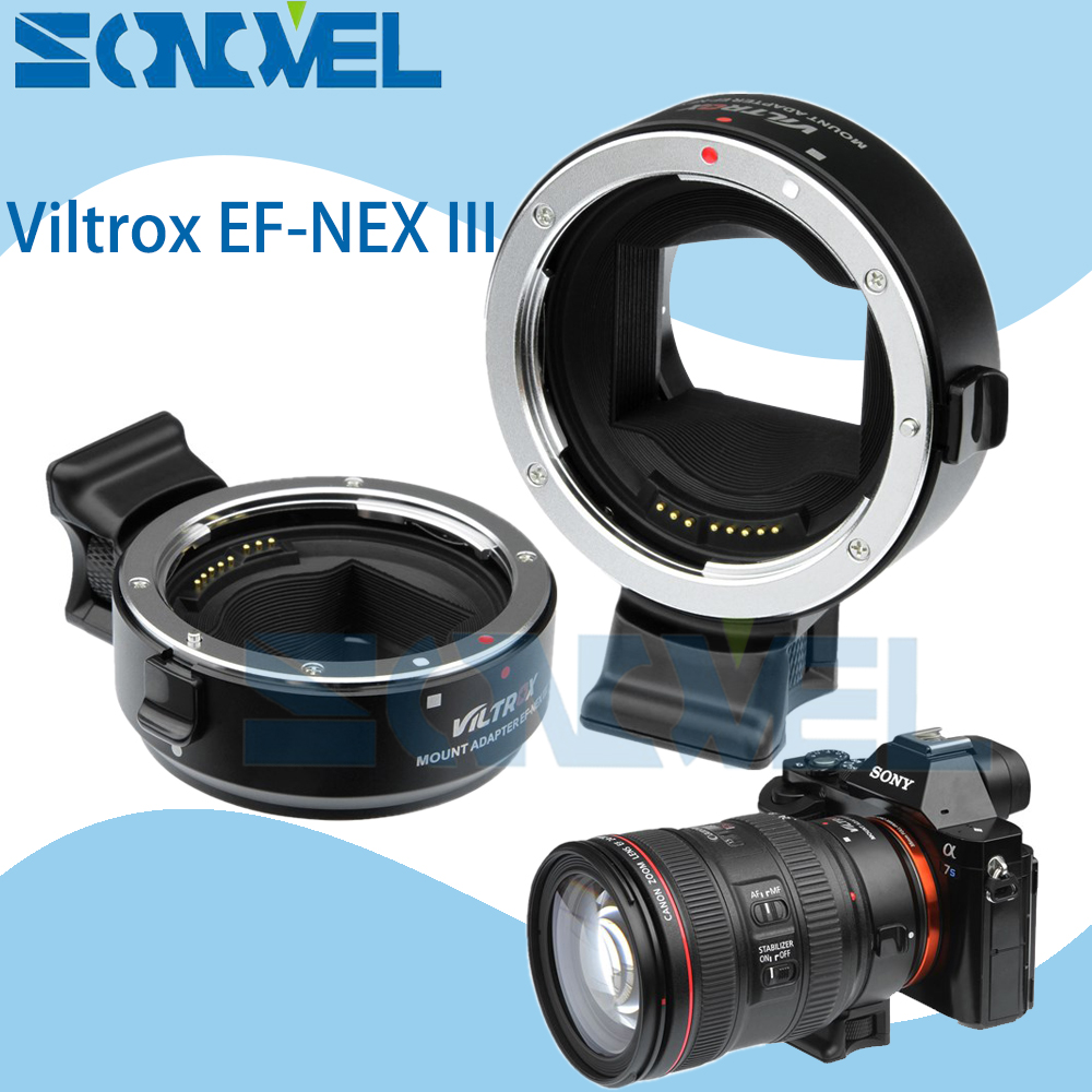 Viltrox EF-NEX III Auto Focus Lens Adapter for Canon EOS EF EF-S Lens to Sony E NEX Full Frame A7 A7RII A7SII A6300 A6500 NEX-7 meike for eos ef nex auto focus electronic adapter for canon ef efs lens to sony nex e mount