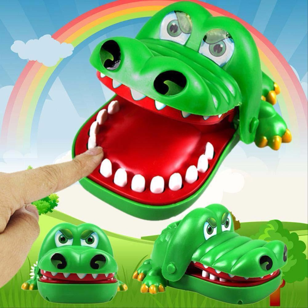 Kids Child Adult Gifts Crocodile Mouth Dentist Bite Finger Game Funny Toy
