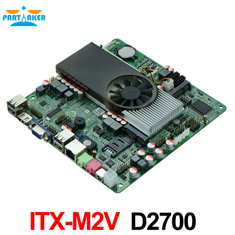 D2700 2.13Ghz GT520 2G discrete graphics all in one POS mini itx slim motherboard M2V NM10 Express DDR3 1080P 8USB2.0 2COM