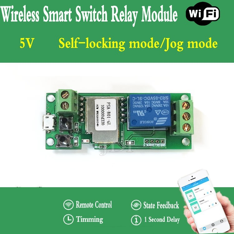 Sonoff Home WiFi Wireless Smart Switch 5V Relay Module Phone APP for IOS Android