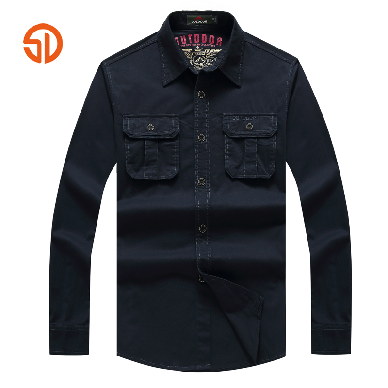 Senlin Jeep Brand Clothing Men Military Spring Autumn Long Sleeve Shirts Mens Fashion Sl ...