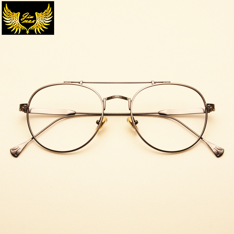 f9287bbf47d 2017 Retro Style Men Women Round Alloy Eye Glasses New Fashion Style  Quality Optical Frame Brand Design Eyewear For Men Women-in Eyewear Frames  from Apparel ...