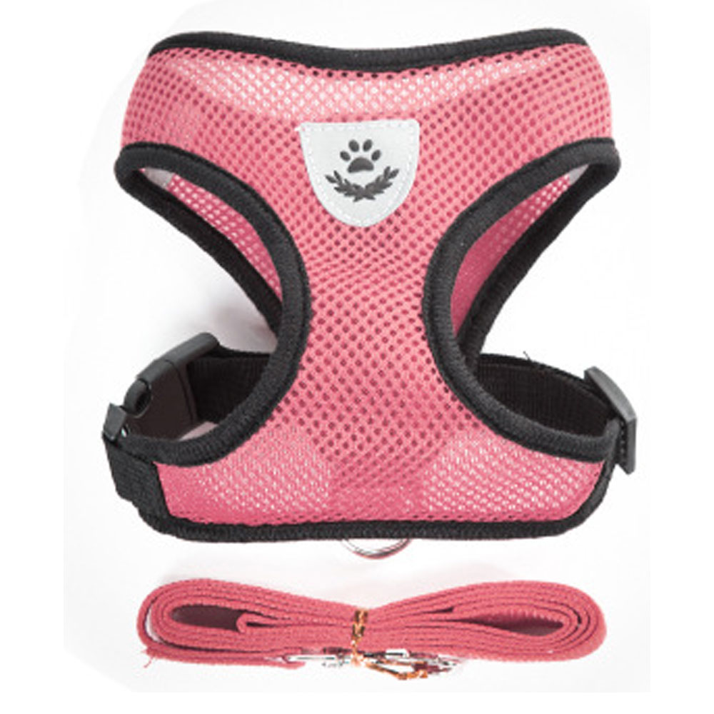 Nylon Mesh Cat Harness And Leash Breathable Kitten Cats Harnesses Small Dog Puppy Harness For French Bulldog Chihuahua Pug
