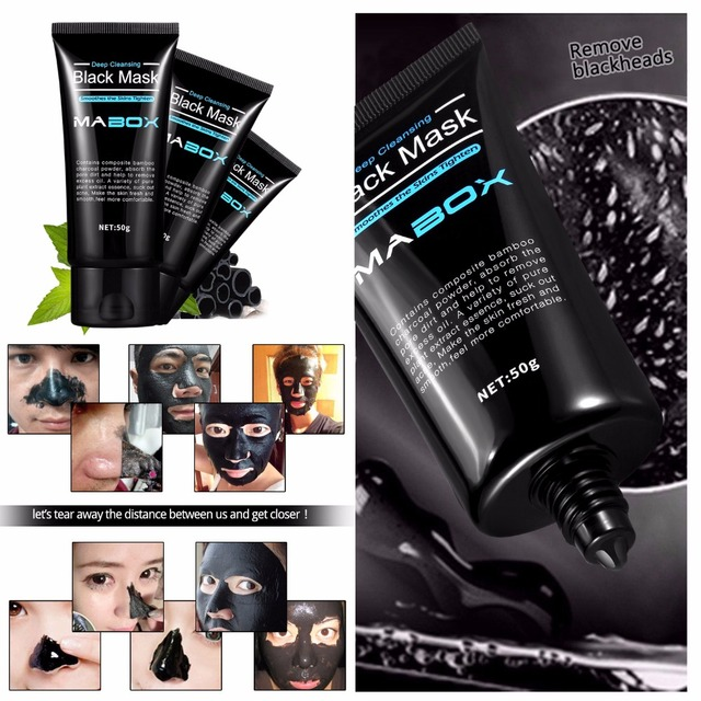 Mabox Black Mask Peel Off Bamboo Charcoal Purifying Blackhead Remover Mask Deep Cleansing for AcneScars Blemishes WrinklesFacial 1