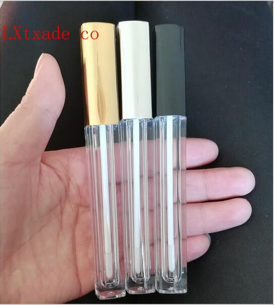 Free Shipping 4.5ml Clear Plastic Empty Lip Gloss Tubes