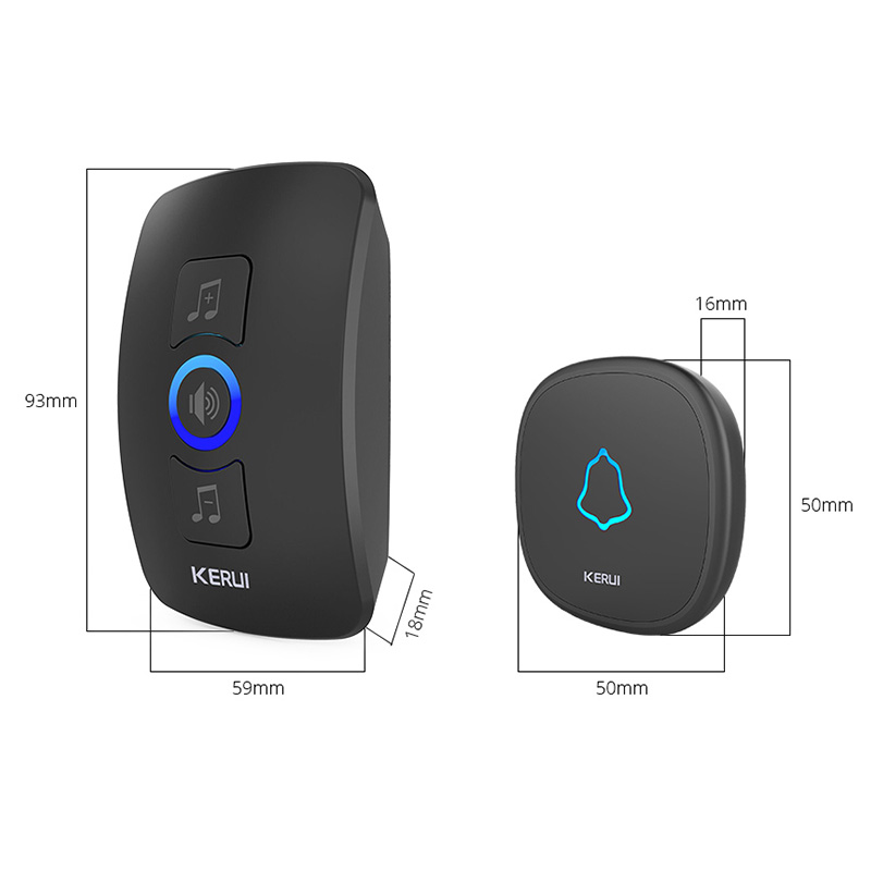 KERUI M525 Home Security Bienvenue Sonnette Sans Fil Smart Chimes - Sécurité et protection - Photo 6
