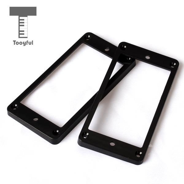 Tooyful 2Pcs Plastic Flat Metal Humbucker Pickup Frame Mounting Ring Accessory 4mm Thick Black for LP Electric Guitar Wholesales in Guitar Parts Accessories from Sports Entertainment