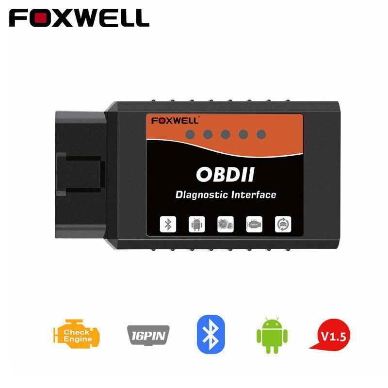 Foxwell Elm327 OBD2 Scanner Bluetooth Elm 327 V 1.5 OBDII Adattatore Lettore di codice Diagnostico Auto Scanner per Auto OBD 2 Elm327 V1.5