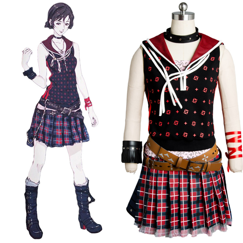 Final Fantasy XV FF 15 Cosplay Costume Iris Amicitia Cosplay Dress Outfit Original Cosplay Costume From Hot Movie Anime Female