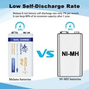 Image 4 - 9V PPP3 6F22 Micro USB 600mAh ricaricabile agli ioni di litio batteria per il fumo di allarme senza fili microfono Chitarra EQ Citofono multimetro