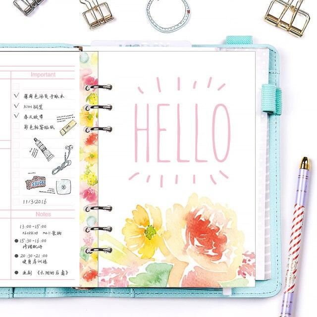 Envío libre 2018 dokibook A5 flor páginas Color Primavera kawaii ...