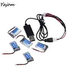 2017 New Hot Sale 5X 3.7V 150mAh 20C Battery And USB Cable Set For JJRC H20 RC Quadcopter Brand New High Quality Mar 14